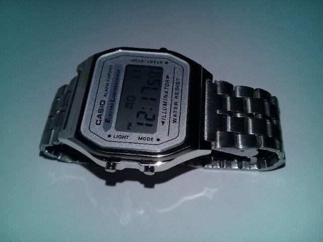 Relógio Casio-illuminator-prata-unissex-promocional - Foto 5