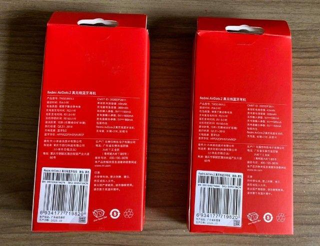 Fone De Ouvido Bluetooth Gamer Xiaomi Airdots 2 Original Novo (aceito cartão ) - Foto 4
