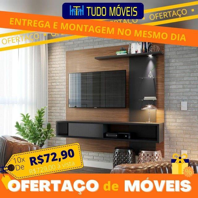 OFERTAÇO DE MÓVEIS / Home para TV até 55 Pol 3 Prateleiras 2 Nichos