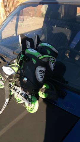Patins Rollers In Line Tam. 36 Xtreme 5000 Verde Bel 773603