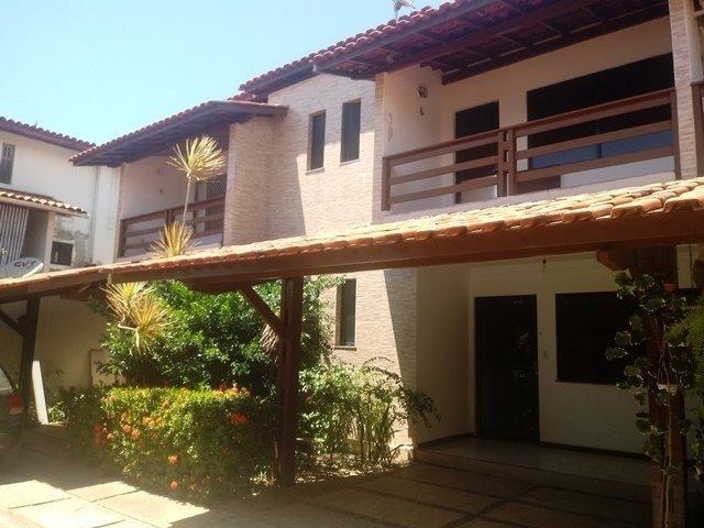 Casa de condominio para locação perto do farol de itapua, 3/4 suite, piscina, nascente