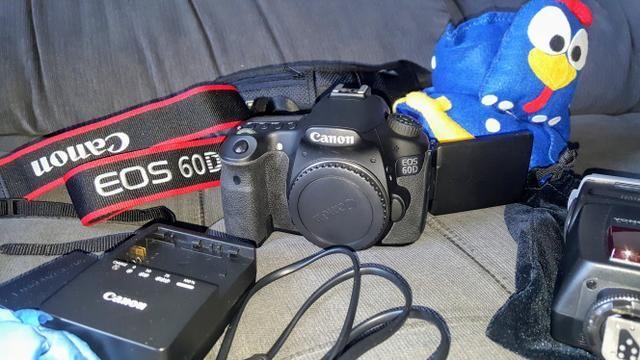 Canon Eos 60d C/ 3k Cliques. Raridade. Ótimo Estado. Bônus! - Foto 4