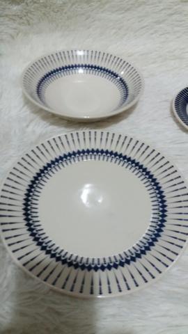 Jogo de 6 pratos de cerâmica, novo! - Foto 2