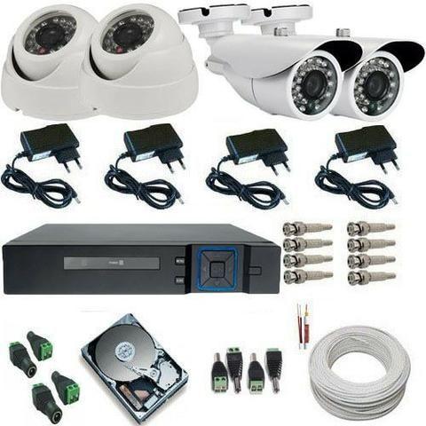Kit com 4 cameras AHD 3.0pix + instalação ( 999,00 ) - Foto 2
