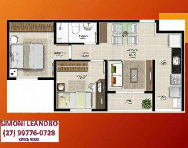 SCL - 03 - Apartamento 2qrts, itbi e registro grátis em Jacaraipe - Foto 7