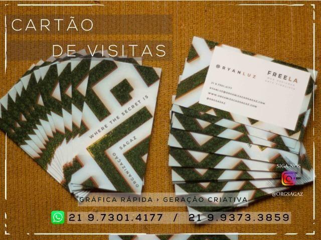 Cartão de visitas Couchê 300g - Foto 5