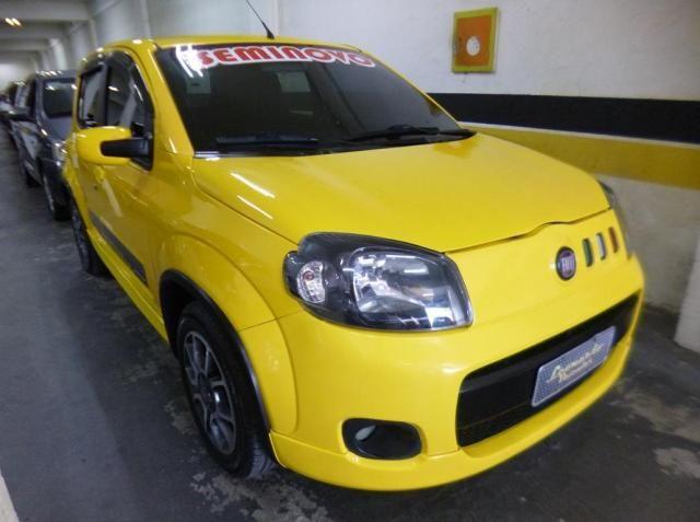 Fiat uno sporting evo 1.4 8v 4p flex 2012/2013 amarelo