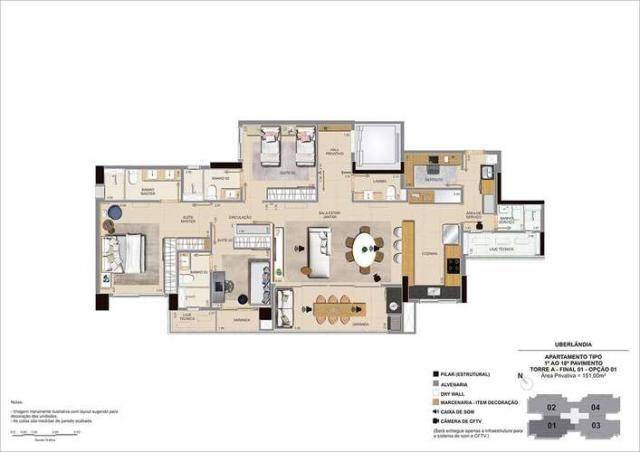 Sense Vertical Living - 115 a 151m² - Bairro Jardim das Acácias - Uberlândia, MG - Foto 16