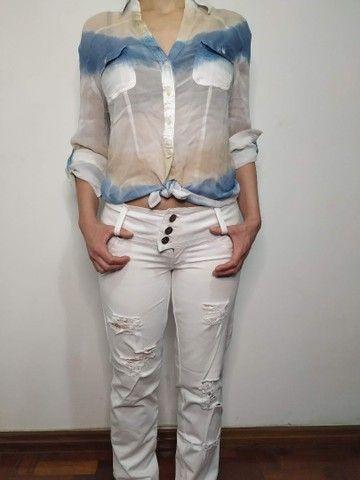 Calça jeans branca - Foto 2
