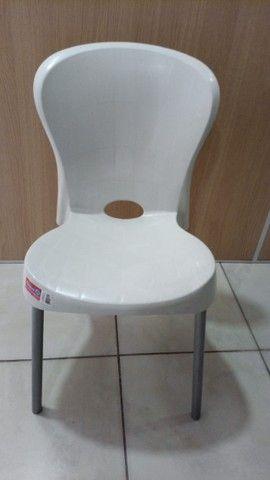 Cadeira Com Pés De Aço Montes Claros Antares Recepção - Foto 4