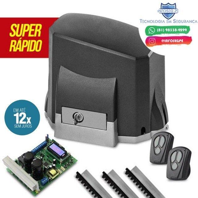 Motor Para Portão Garen Ultra Rápido 4 Segundo 12x de R$ 87,99 (Instalação Inclusa)