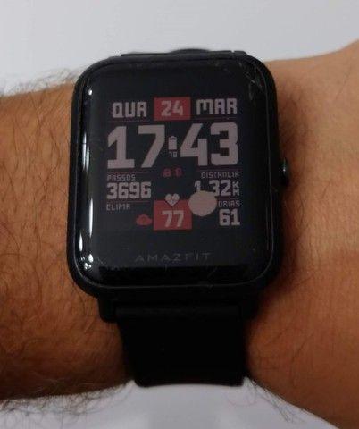 Relógio Smartwatch Amazfit Bip A1608 Onyx Black Original - Foto 3
