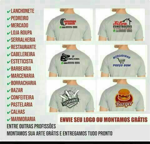 Uniforme para empresa só a camiseta estampa não desbota nem craquela  - Foto 2
