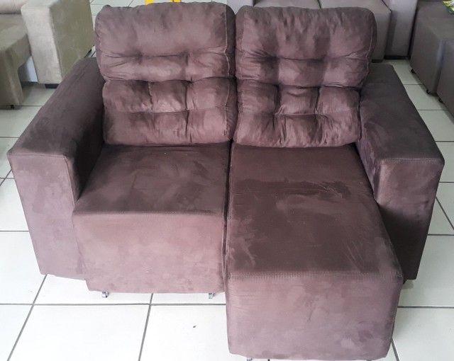 Estofado 2 lugares retrátil e reclinável - Foto 2