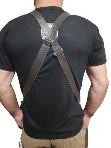 Avental de couro com alças reguláveis - Foto 6