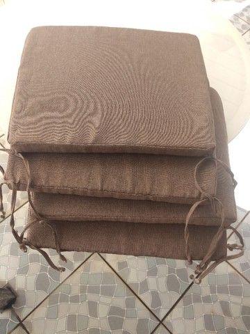 4 Almofadas em linho para assento  - Foto 5