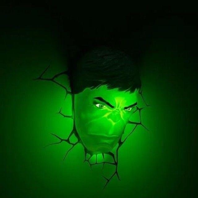 Mega Saldao Marvel - Luminária Rosto Do Hulk Promocao