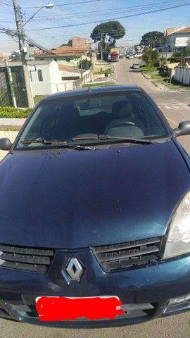 Clio 2006 flex, azul, 5p trava, anti furto  - Foto 5