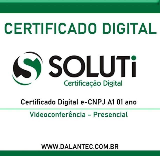 Certificado Digital e-Cnpj A1 01 ano