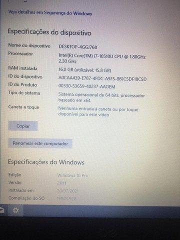 """Notebook Novo Dell Latitude 3410 i7 10Ger 16GB Ssd 256GB M2 HD 1TB 14"""" Emito NF! - Foto 5"""