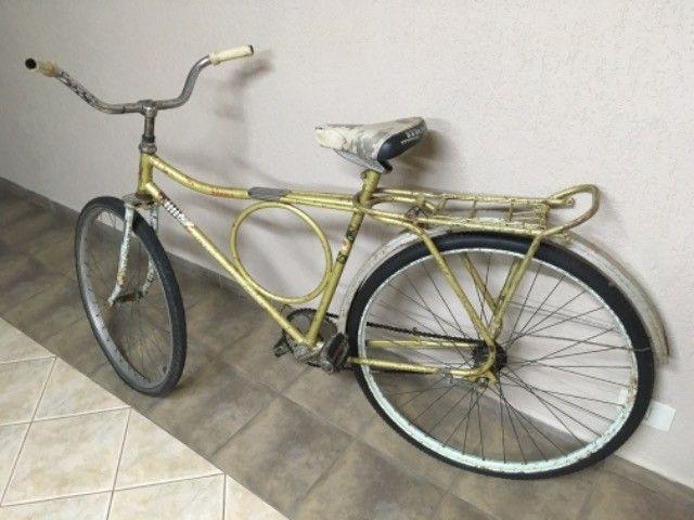 Bicicleta barra forte antiga peças originais  - Foto 4