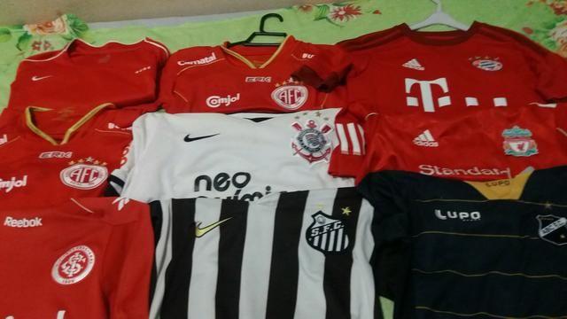Camisas infantis de futebol 15 camisas para venda 370 - Foto 2
