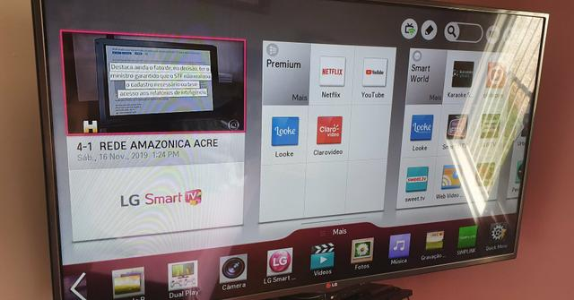 Smart TV LG 47 polegadas 3d com 4 óculos - Foto 2