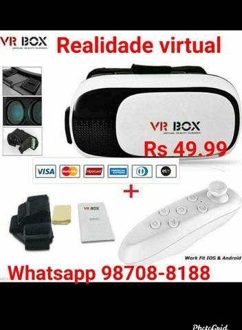 VR BOX óculos de realidade virtual c/controle
