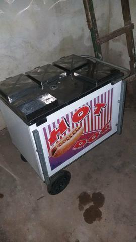 Vende-se carrinho de cachorro quente com tenda - Foto 2