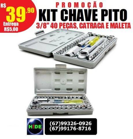 Promoção Kit Chaves de Pito 40 peças com catraca (entrega grátis)