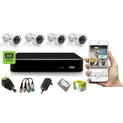 Kit com 4 cameras AHD 3.0pix + instalação ( 999,00 )