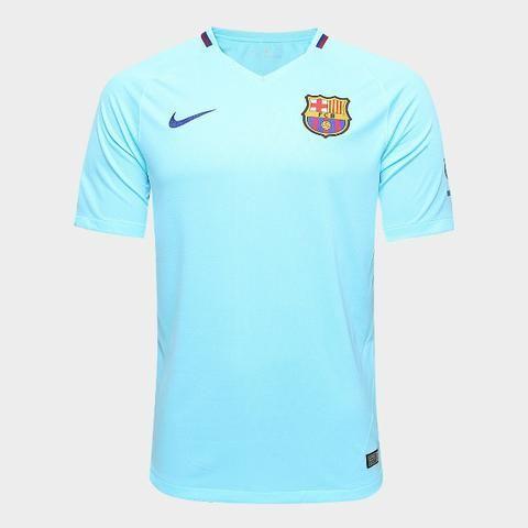 Camisa Original Barcelona Nike Azul 2017 18 - Roupas e calçados ... 8de93d11c543e