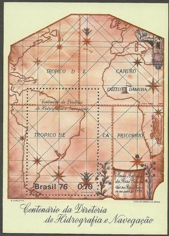 B 39 Selo Bloco Carta Nautica Hidrografia Mapa Marinha