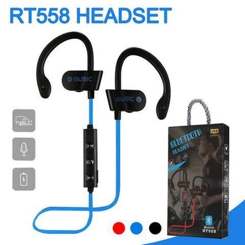 Fone De Ouvido Sport 558 Bluetooth Android iOS Música - Foto 2
