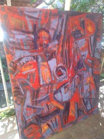 Quadro de Arte - 100 cm x 120 cm  - Foto 2