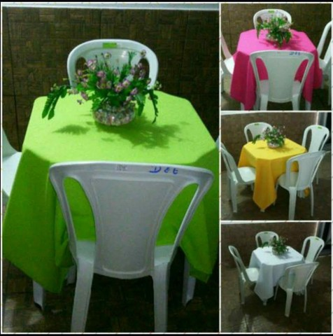 Mesas e cadeiras  (R$ 5.00 ) Aluguel  99212/6216 - Foto 2