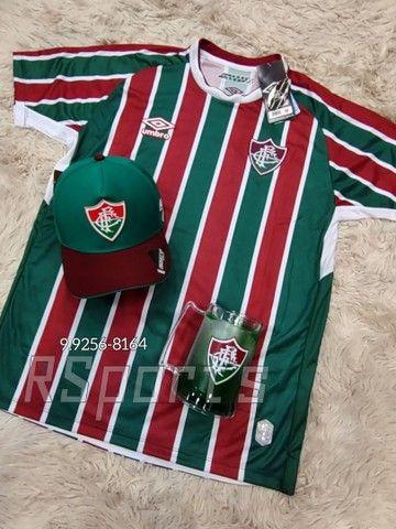 Kit presente dia dos Pais camisa caneca e boné do Fluminense