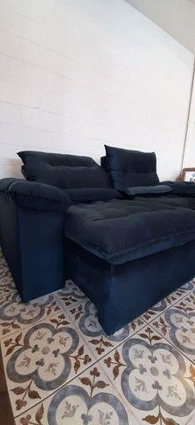 Sofá retrátil e reclinável arezzo 2,10 - Foto 2