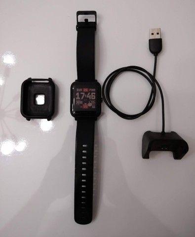 Relógio Smartwatch Amazfit Bip A1608 Onyx Black Original - Foto 6