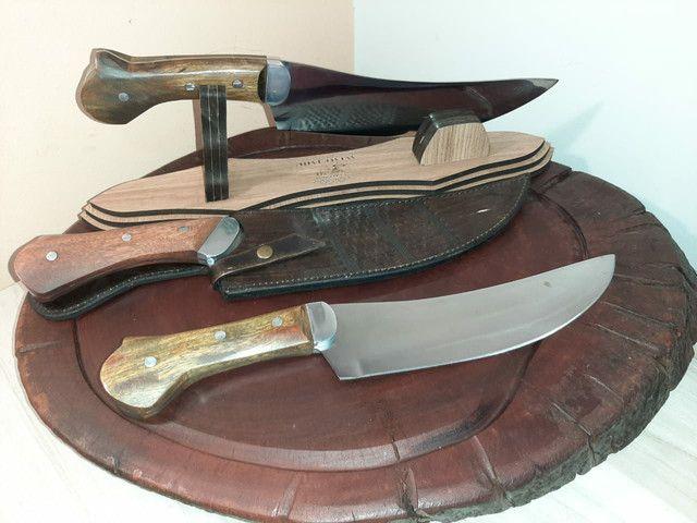 Facas para churrasco artesanal aço inox  - Foto 4