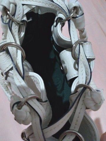 Bolsa em couro branca - Foto 6