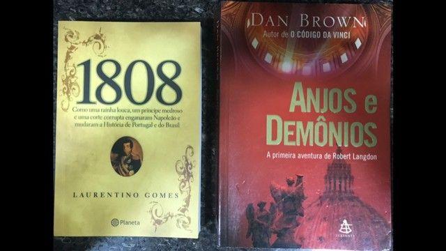 Livros: Anjos e Demônios + 1808 (usados)
