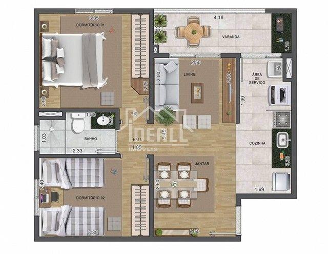 Apartamento para venda com 57 m² e lazer completo - Foto 9