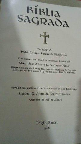 Bíblia Sagrada Barsa para a Familia Católica ed. 1968 - Foto 2