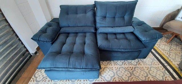 Sofá retrátil e reclinável arezzo 2,10 - Foto 3
