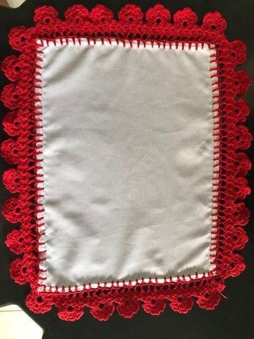 Vende se tapete de crochê , jogo sousplat, jogo americano, puxa saco,biquini - Foto 4