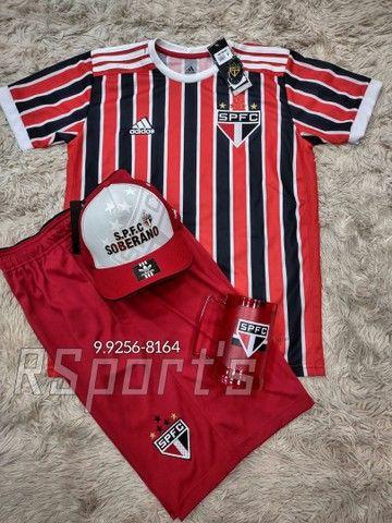 Kit presente dia dos Pais camisa bermuda boné e caneca do São Paulo - Foto 2