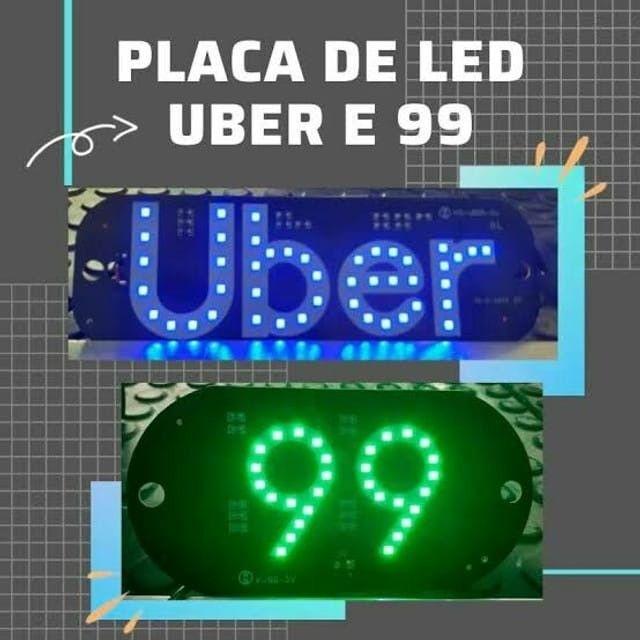 Placa Para Uber Azul, Verde  para motiristas
