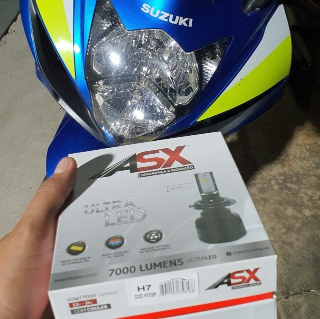 Ultra Led ASX H7 Unidade + Par pingo led - Foto 4