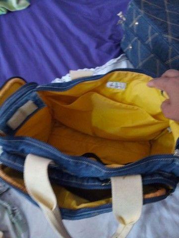 Bolsa para bebê jeans - Foto 3